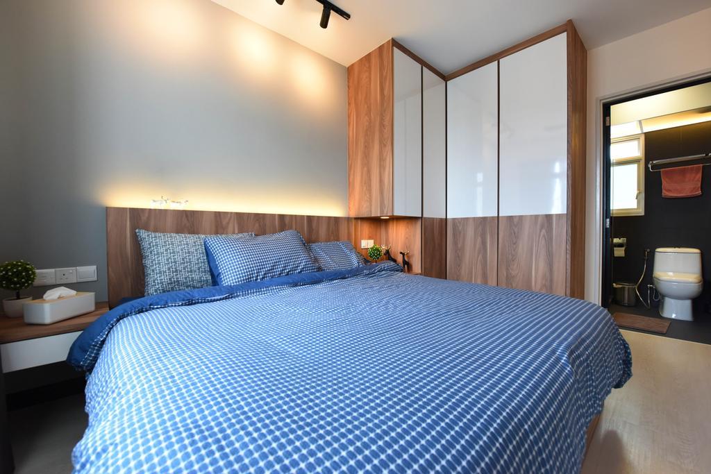 Scandinavian, HDB, Bedroom, Whampoa Dew, Interior Designer, Starry Homestead, Indoors, Interior Design, Room, Bathroom