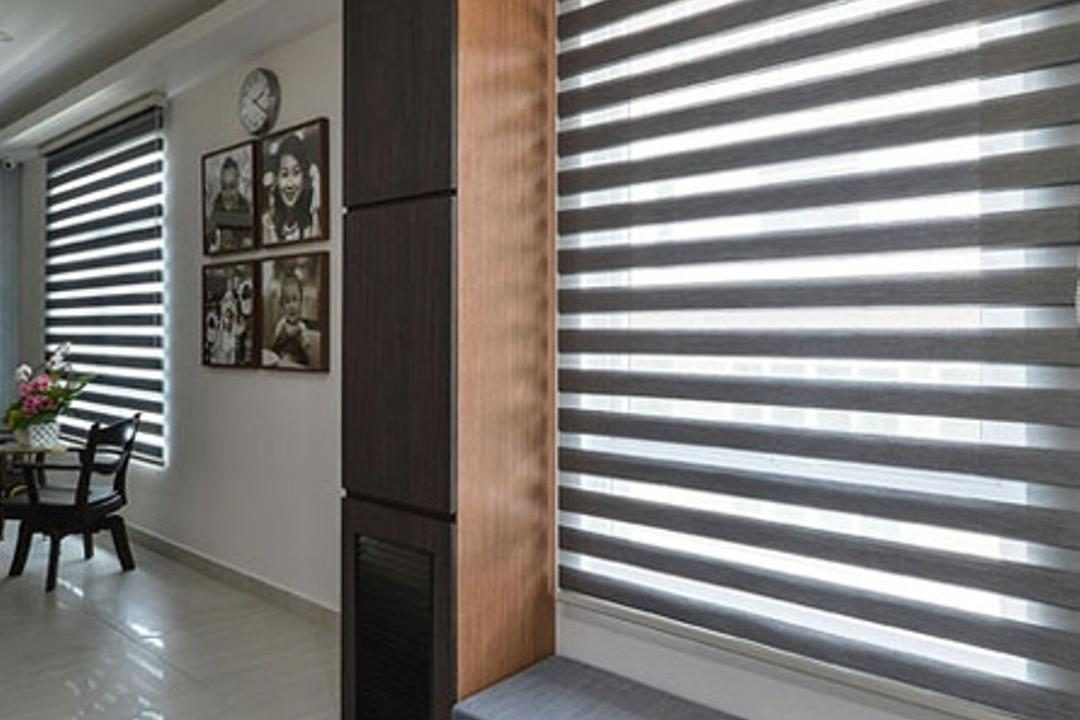 Rafflesia, Spazio Design Sdn Bhd, Contemporary, Landed, Shoe Cabinet, Window, Blinds, Entrance, Bench