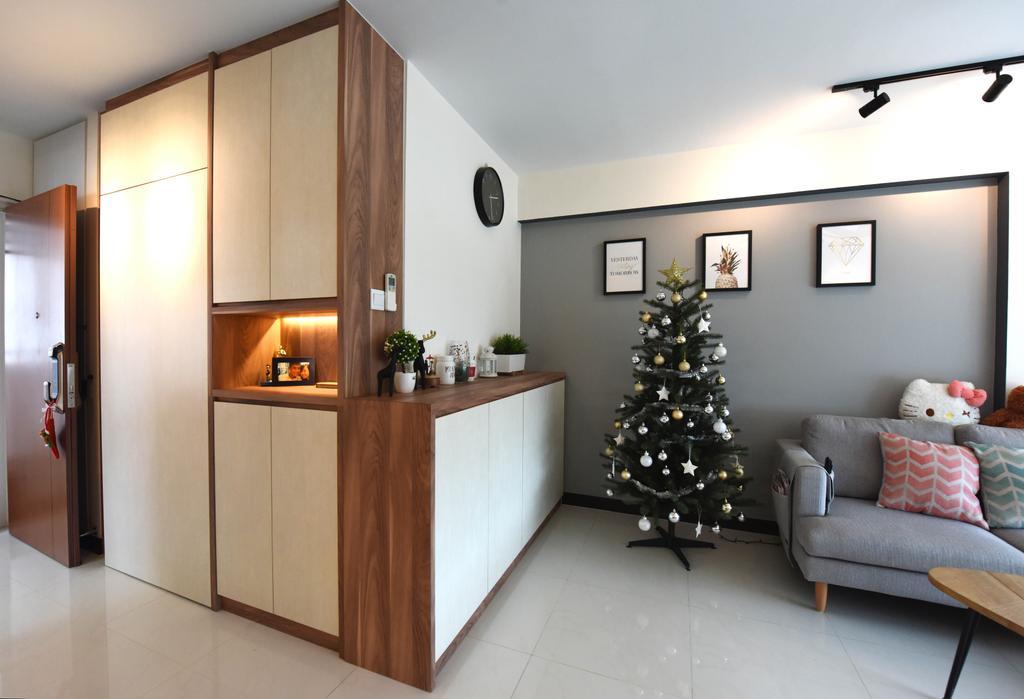 Scandinavian, HDB, Living Room, Whampoa Dew, Interior Designer, Starry Homestead, Couch, Furniture, Sideboard