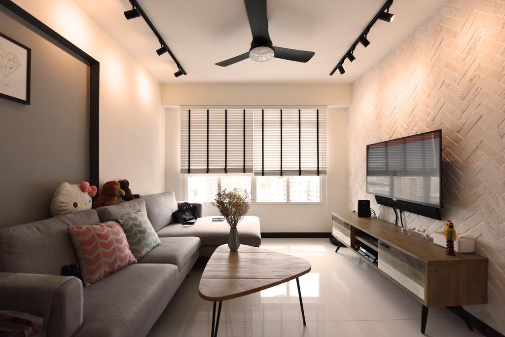 Scandinavian, HDB, Living Room, Whampoa Dew, Interior Designer, Starry Homestead, Couch, Furniture, Indoors, Interior Design, Dining Table, Table, Room, Bedroom, Chair