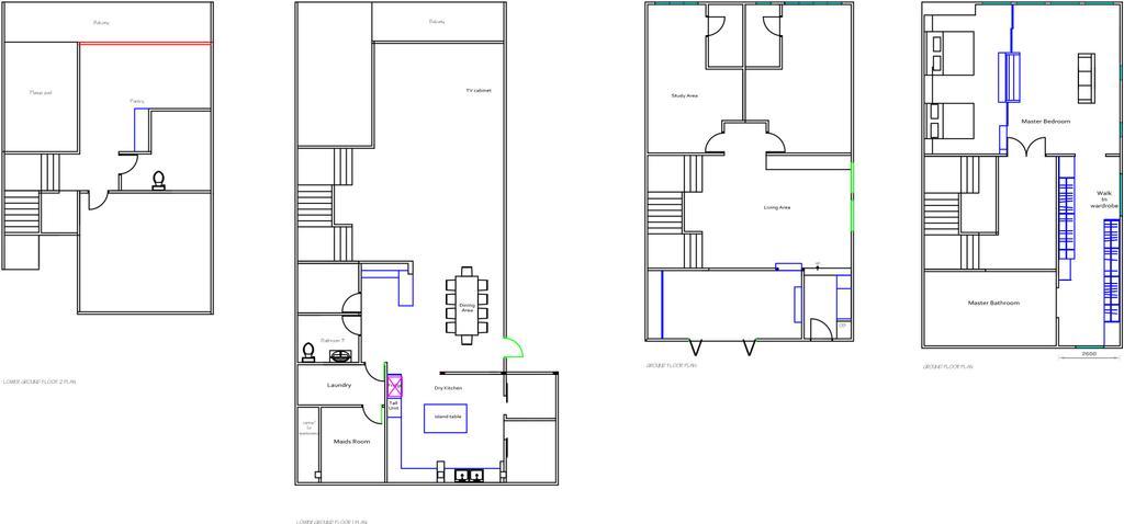 Contemporary, Landed, Rafflesia, Interior Designer, Spazio Design Sdn Bhd, Floor Plan, Diagram, Plan