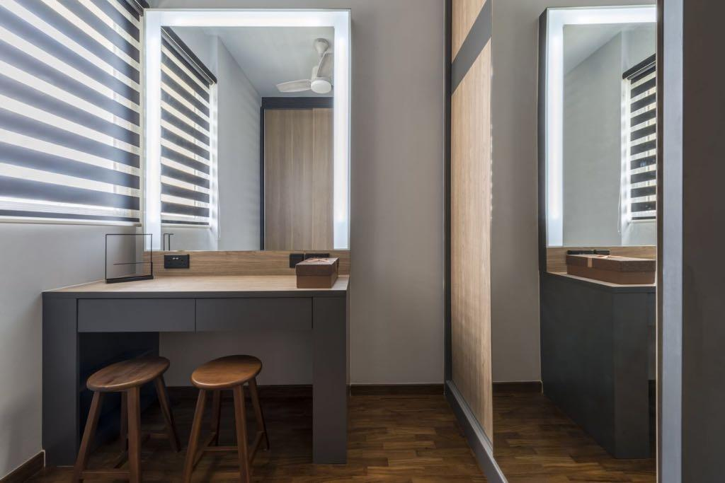 Contemporary, Condo, Bedroom, Sea Horizon, Interior Designer, Earth Interior Design Pte Ltd, Bar Stool, Furniture, Chair, Indoors, Interior Design