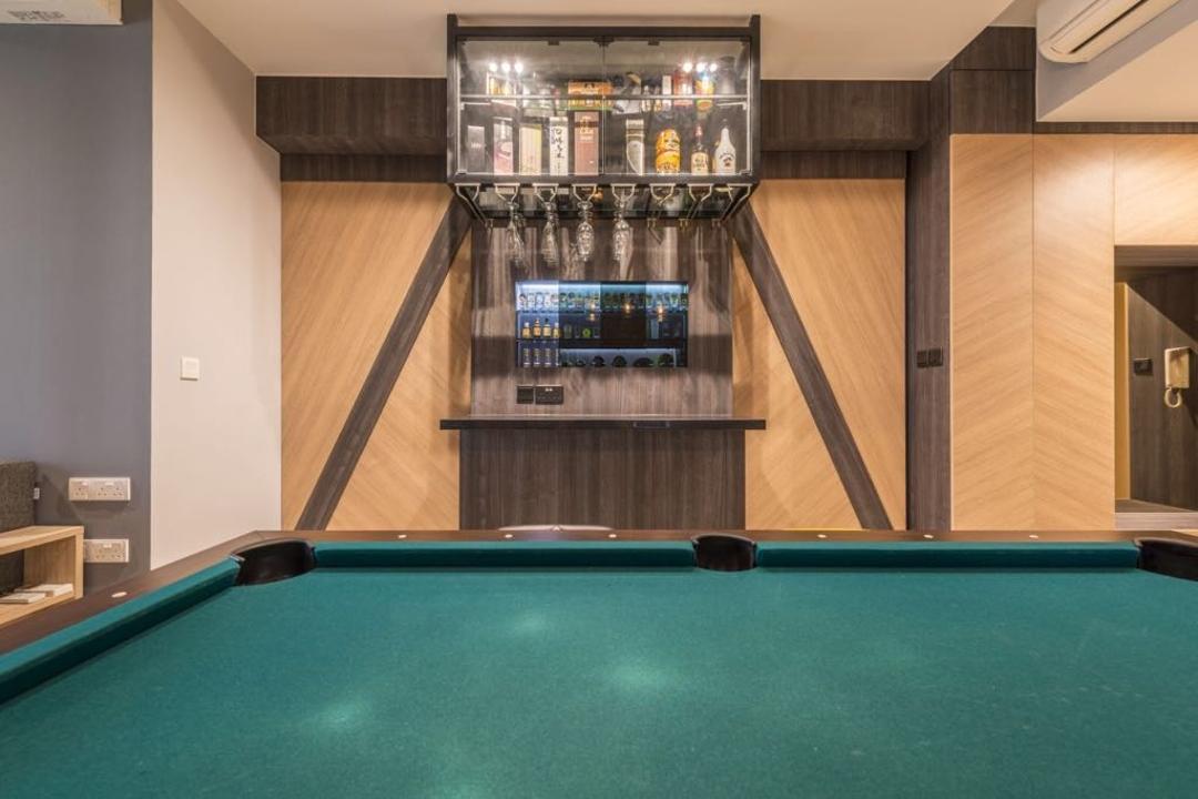Sea Horizon, Earth Interior Design Pte Ltd, Contemporary, Condo, Billiard Room, Furniture, Indoors, Pool Table, Room, Table