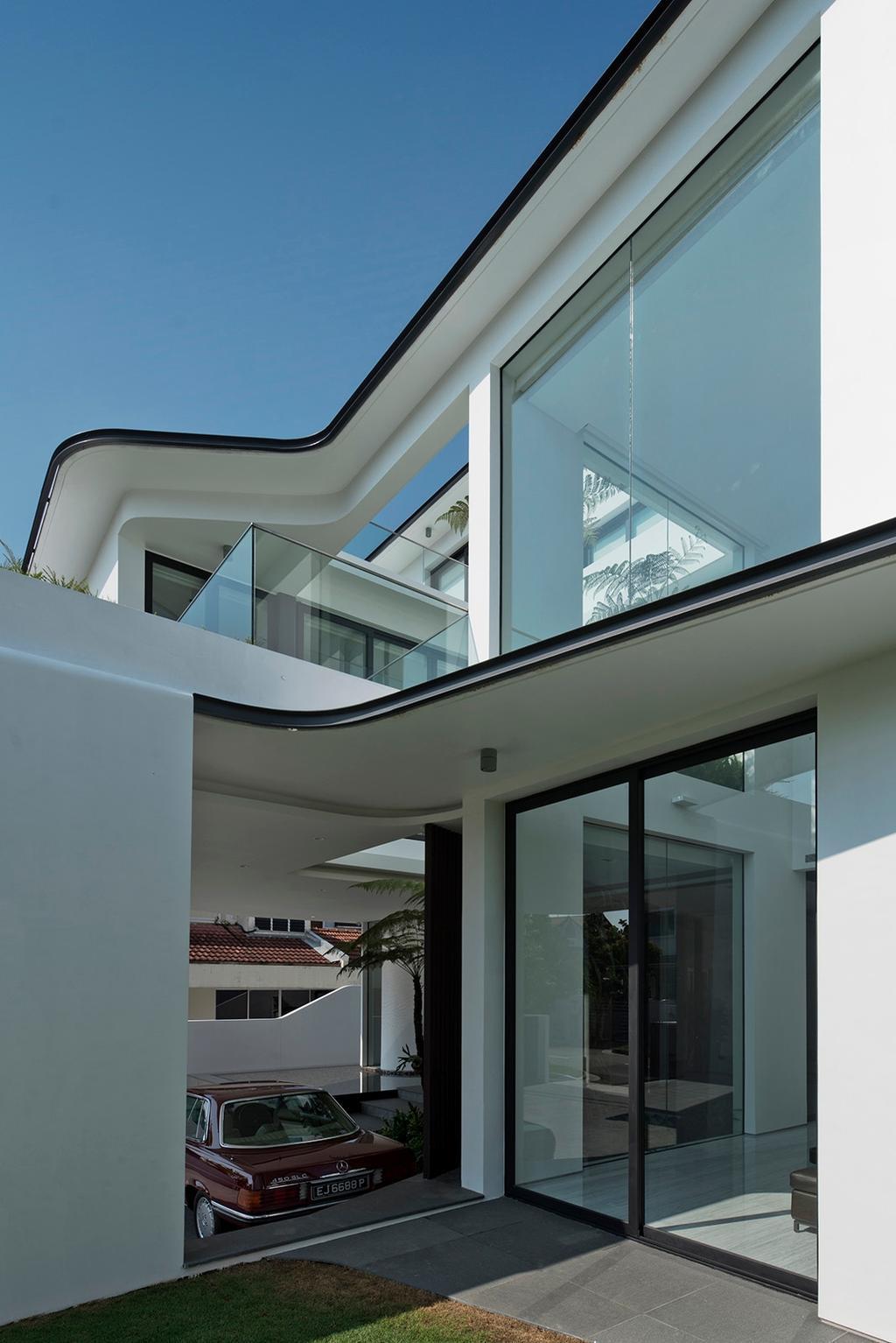 Modern, Landed, Tosca Street, Architect, Kite Studio Architecture, Glass Doors, Sliding Door, Building, Office Building, Architecture, Skylight, Window