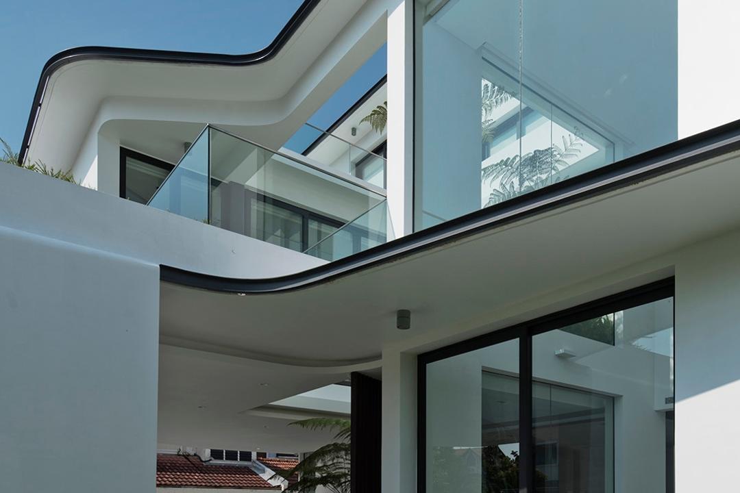 Tosca Street, Kite Studio Architecture, Modern, Landed, Glass Doors, Sliding Door, Building, Office Building, Architecture, Skylight, Window