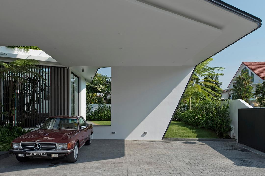 Tosca Street, Kite Studio Architecture, Modern, Landed, Flora, Jar, Plant, Potted Plant, Pottery, Vase, Automobile, Car, Sedan, Transportation, Vehicle, Coupe, Sports Car