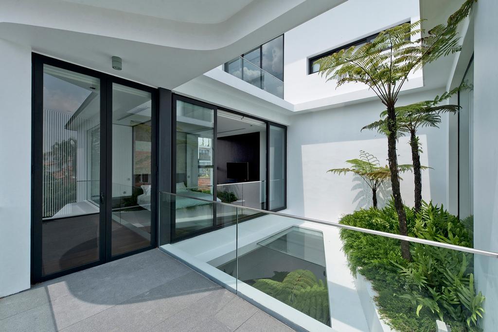 Modern, Landed, Tosca Street, Architect, Kite Studio Architecture, Plants, Sliding Door, Glasses, Door, Arecaceae, Flora, Palm Tree, Plant, Tree, Building, House, Housing, Villa