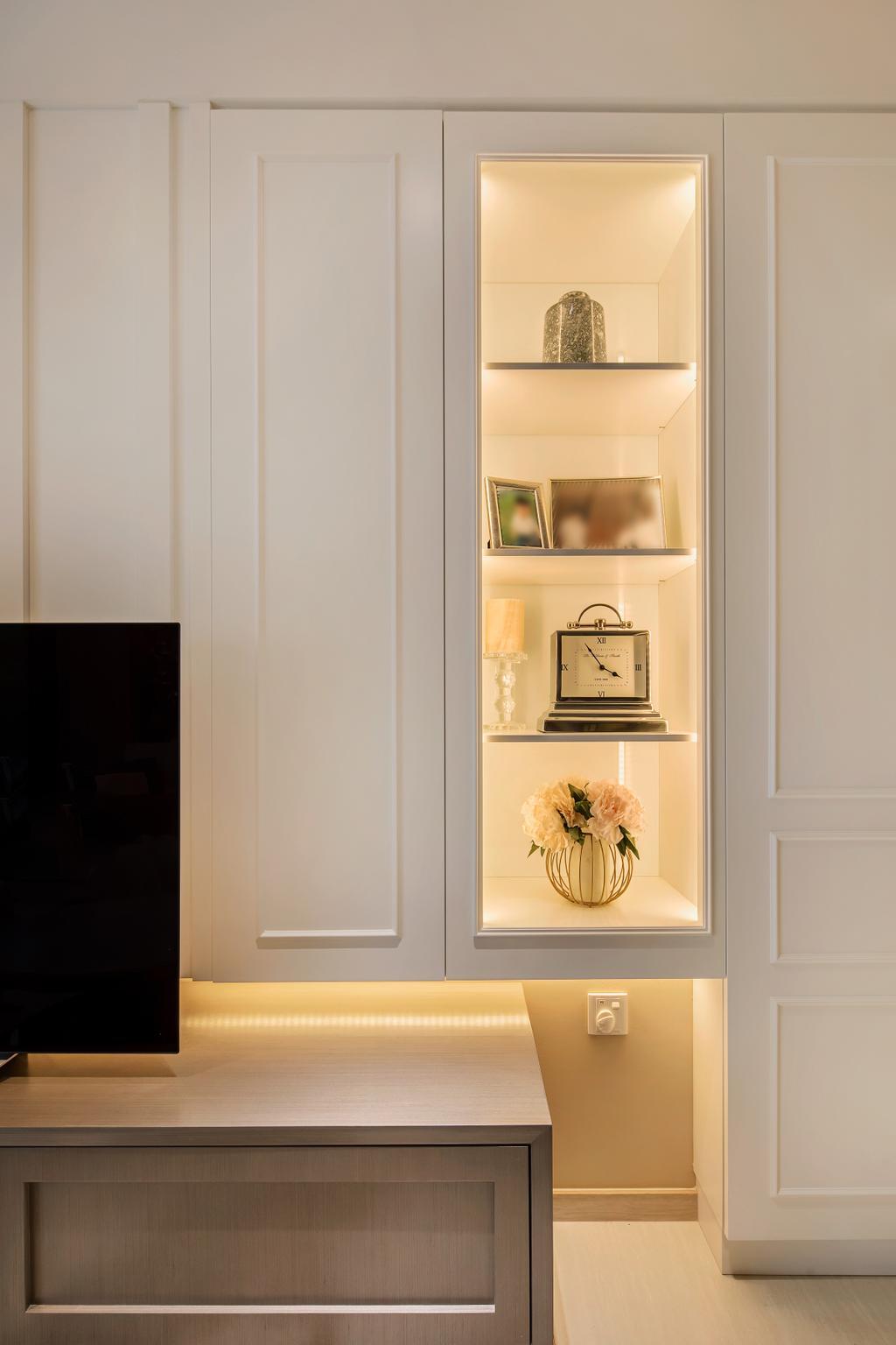 Modern, Condo, Living Room, Bellewaters, Interior Designer, Anhans Interior Design, Minimalist, Blossom, Flora, Flower, Flower Arrangement, Ornament, Plant