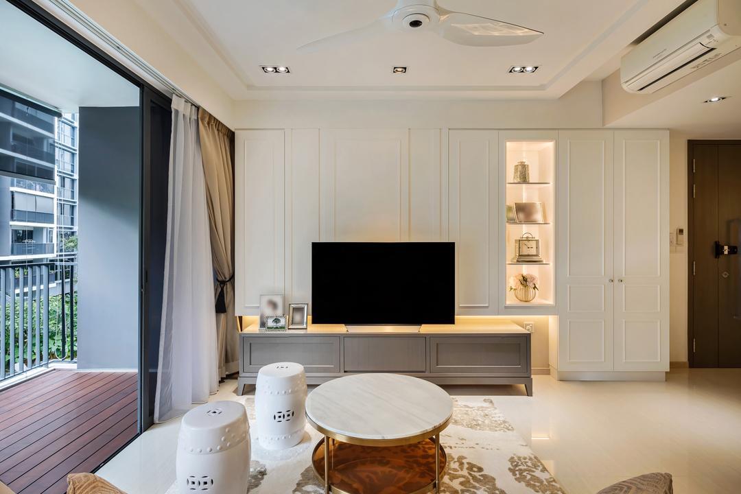Bellewaters, Anhans Interior Design, Modern, Minimalistic, Living Room, Condo, Indoors, Interior Design, Cup, Deck, Porch