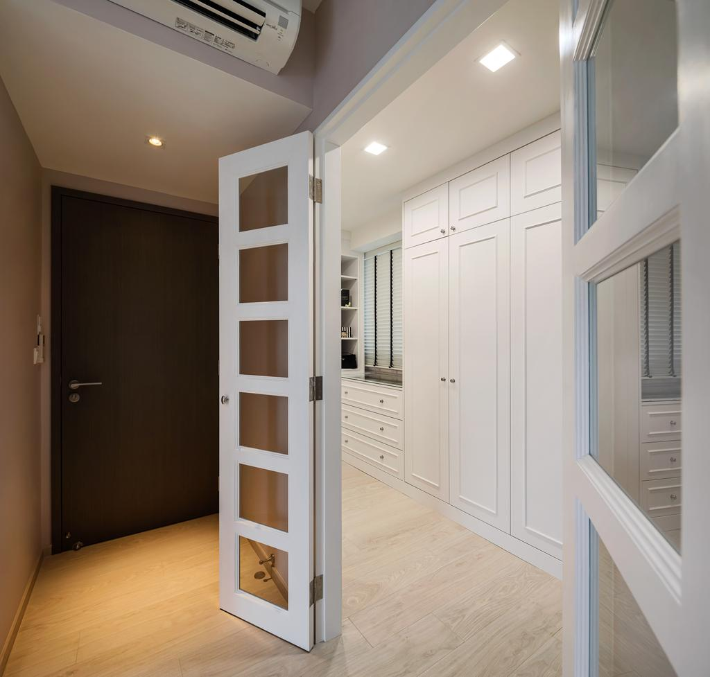 Modern, Condo, Bedroom, Bellewaters, Interior Designer, Anhans Interior Design, Minimalist, Shelf