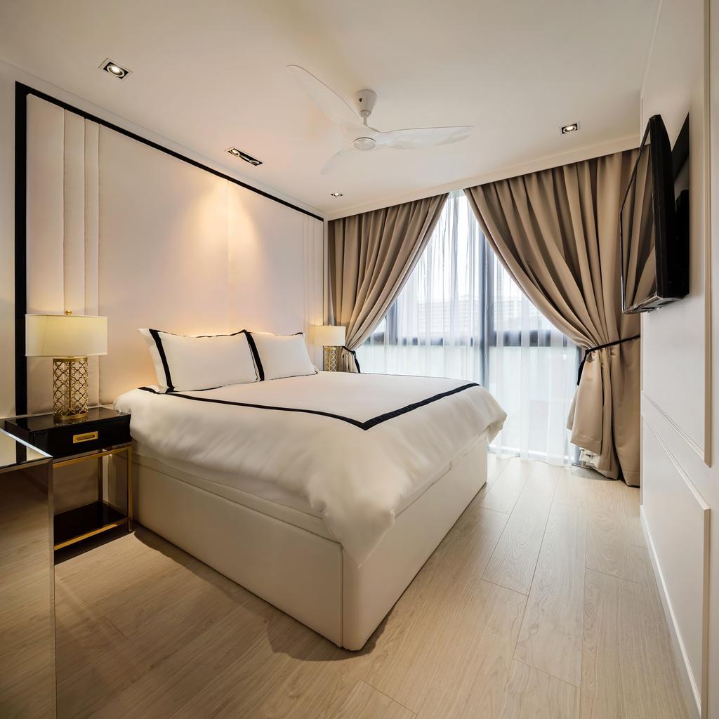 Modern, Condo, Bedroom, Bellewaters, Interior Designer, Anhans Interior Design, Minimalist, Bed, Furniture