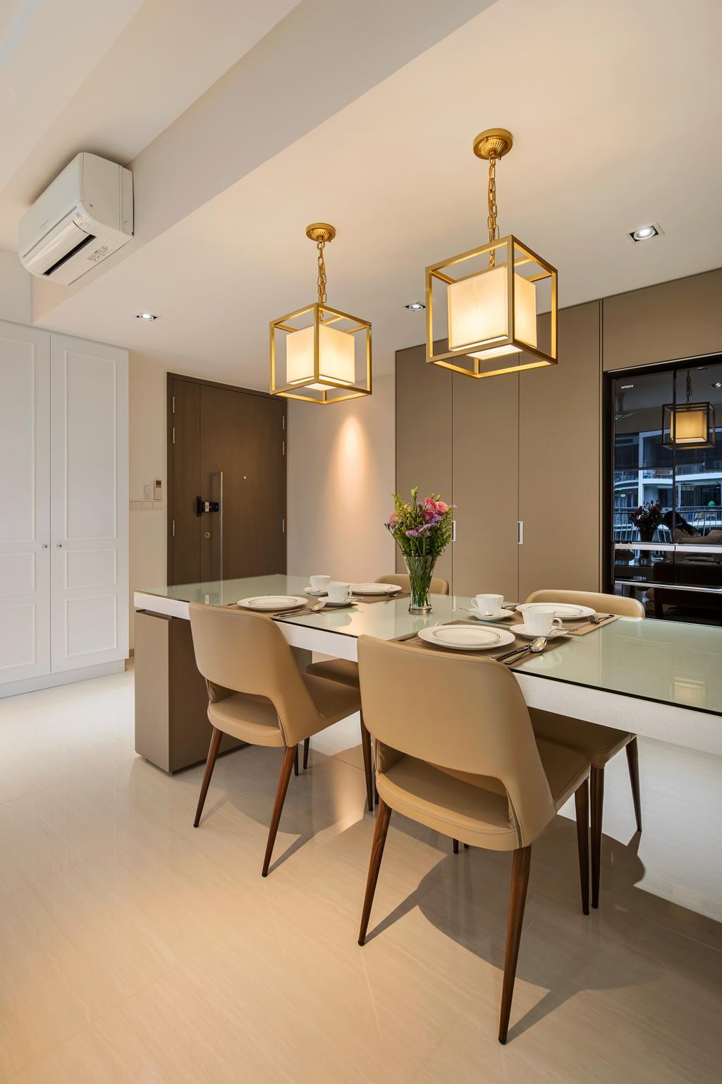 Modern, Condo, Dining Room, Bellewaters, Interior Designer, Anhans Interior Design, Minimalist, Indoors, Interior Design, Room, Sink, Chair, Furniture, Dining Table, Table