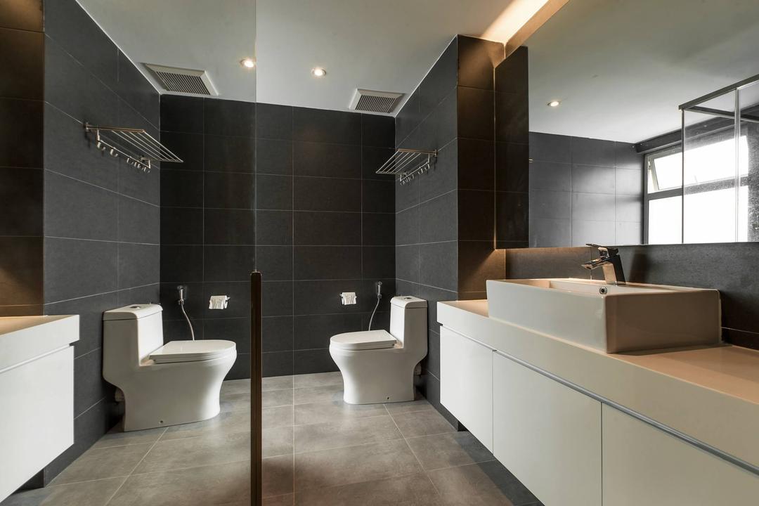Latitude (Type B), Nevermore Group, Contemporary, Bathroom, Condo, Toilet, Indoors, Interior Design, Room, Sink