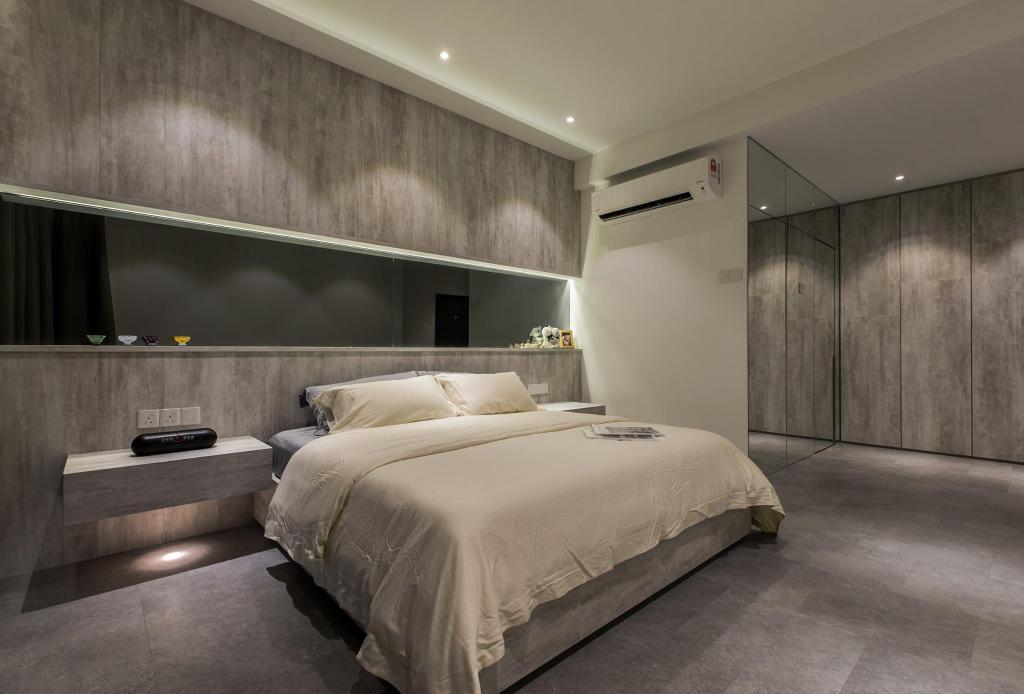 Contemporary, Condo, Bedroom, Latitude (Type B), Interior Designer, Nevermore Group, Bed, Furniture, Apartment, Building, Housing, Indoors, Loft, Interior Design