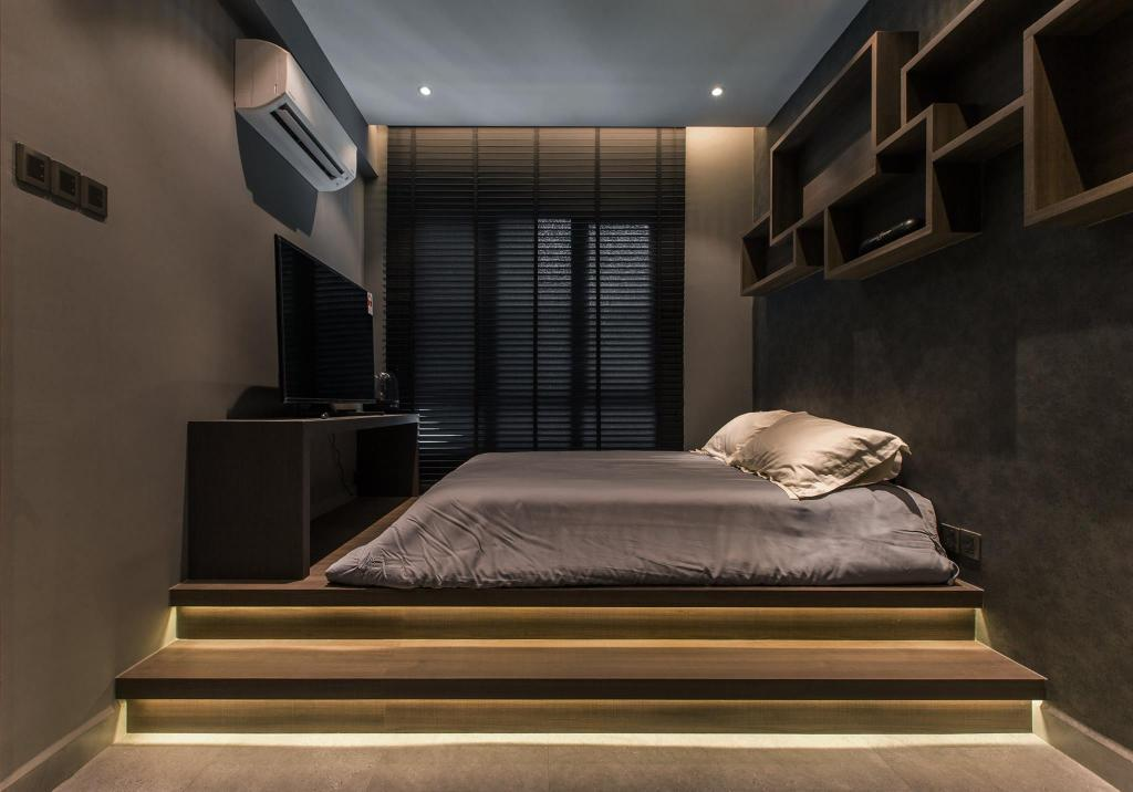 Contemporary, Condo, Bedroom, Latitude (Type B), Interior Designer, Nevermore Group, Bed, Furniture