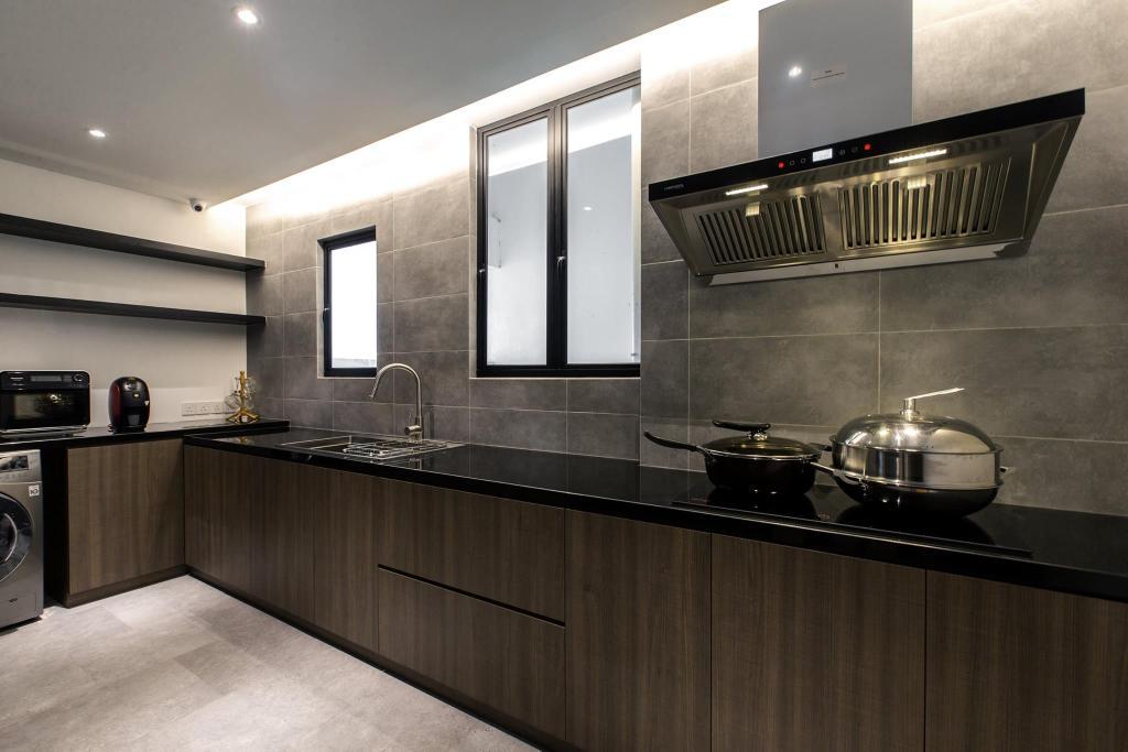 Contemporary, Condo, Kitchen, Latitude (Type B), Interior Designer, Nevermore Group, Indoors, Interior Design, Room