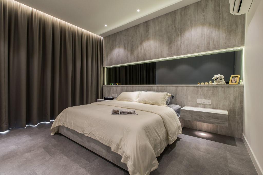 Contemporary, Condo, Latitude (Type B), Interior Designer, Nevermore Group, Bed, Furniture