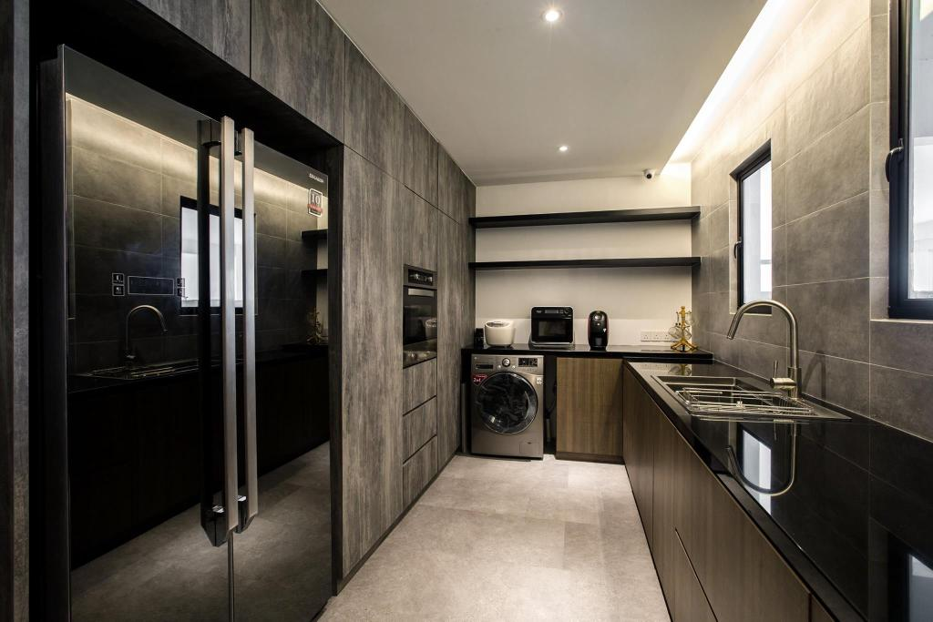 Contemporary, Condo, Kitchen, Latitude (Type B), Interior Designer, Nevermore Group, Sink, Appliance, Electrical Device, Oven, Floor