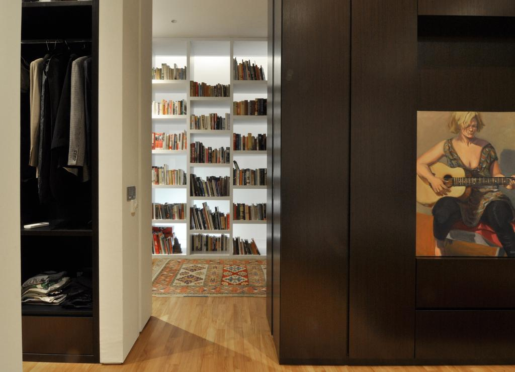 Modern, Landed, Palm Drive, Architect, Kite Studio Architecture, Human, People, Person, Bookcase, Furniture, Indoors, Interior Design, Closet, Wardrobe, Pantry, Shelf