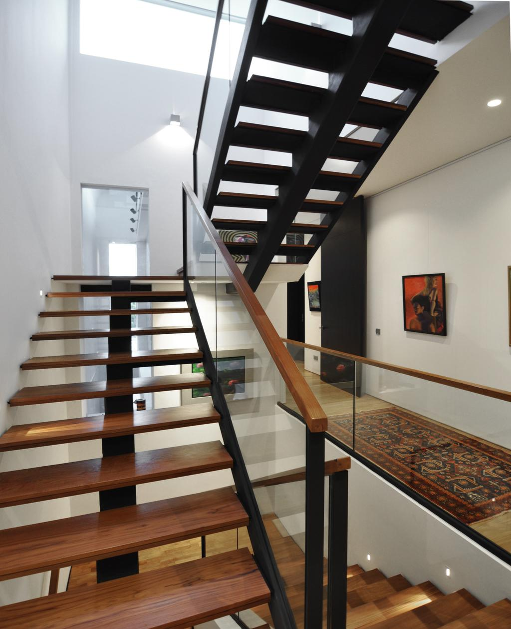 Modern, Landed, Palm Drive, Architect, Kite Studio Architecture, Banister, Handrail, Staircase