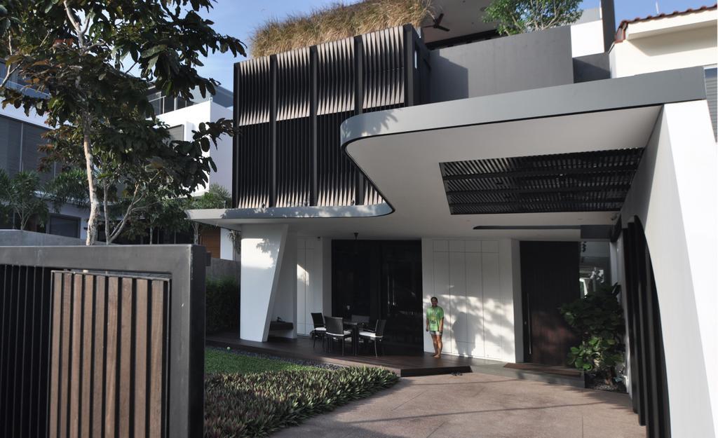 Modern, Landed, Palm Drive, Architect, Kite Studio Architecture, Gate, Plants, Wood, Patio, Pergola, Porch, Corridor