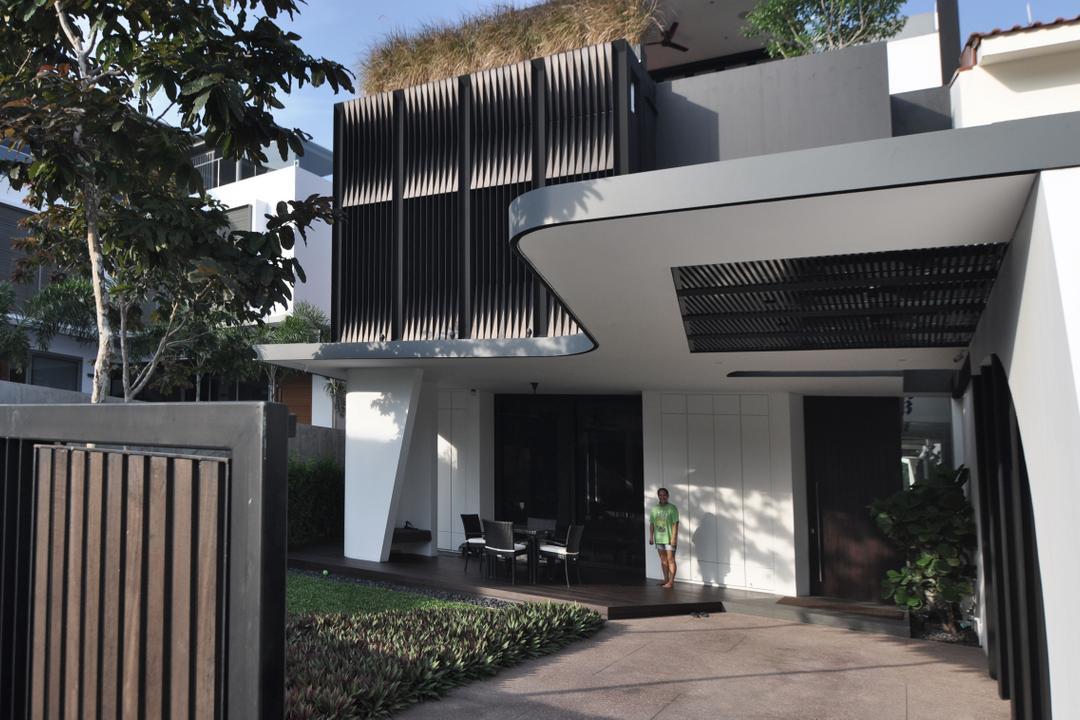 Palm Drive, Kite Studio Architecture, Modern, Landed, Gate, Plants, Wood, Patio, Pergola, Porch, Corridor