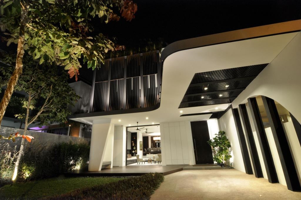 Modern, Landed, Garden, Palm Drive, Architect, Kite Studio Architecture, Plants, Down Light, Entrance, Flora, Jar, Plant, Potted Plant, Pottery, Vase, Corridor