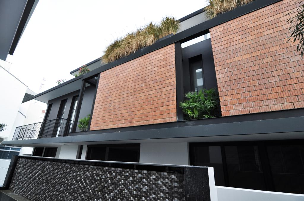 Modern, Landed, Palm Drive, Architect, Kite Studio Architecture, Brick Wall, Roof Top, Pants, Brick, Building, House, Housing, Villa, Roof