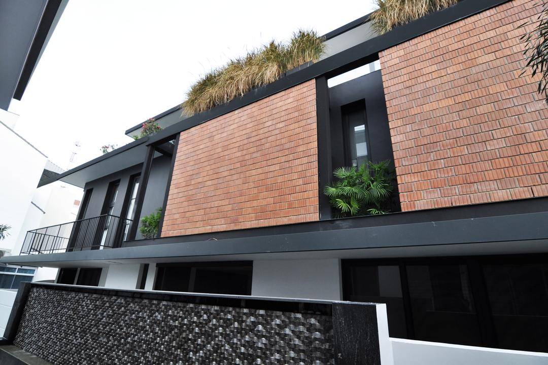 Palm Drive, Kite Studio Architecture, Modern, Landed, Brick Wall, Roof Top, Pants, Brick, Building, House, Housing, Villa, Roof