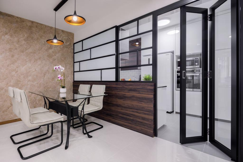 Modern, HDB, Dining Room, Choa Chu Kang, Interior Designer, T&T Design Artisan, Chair, Furniture, Dining Table, Table