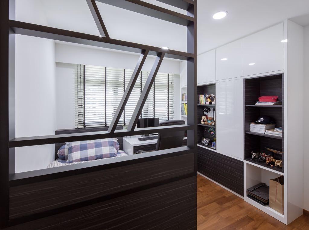 Modern, HDB, Bedroom, Choa Chu Kang, Interior Designer, T&T Design Artisan, Building, Housing, Indoors, Loft