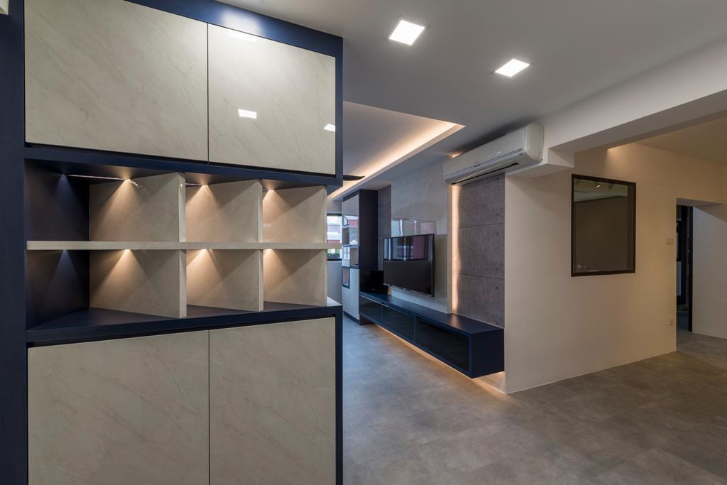 Modern, HDB, Living Room, Choa Chua Kang Drive, Interior Designer, MET Interior, Building, Housing, Indoors, Loft, Flooring