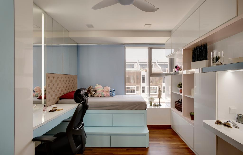 Modern, Condo, Bedroom, The Springside, Interior Designer, The Orange Cube, Sink, Indoors, Interior Design