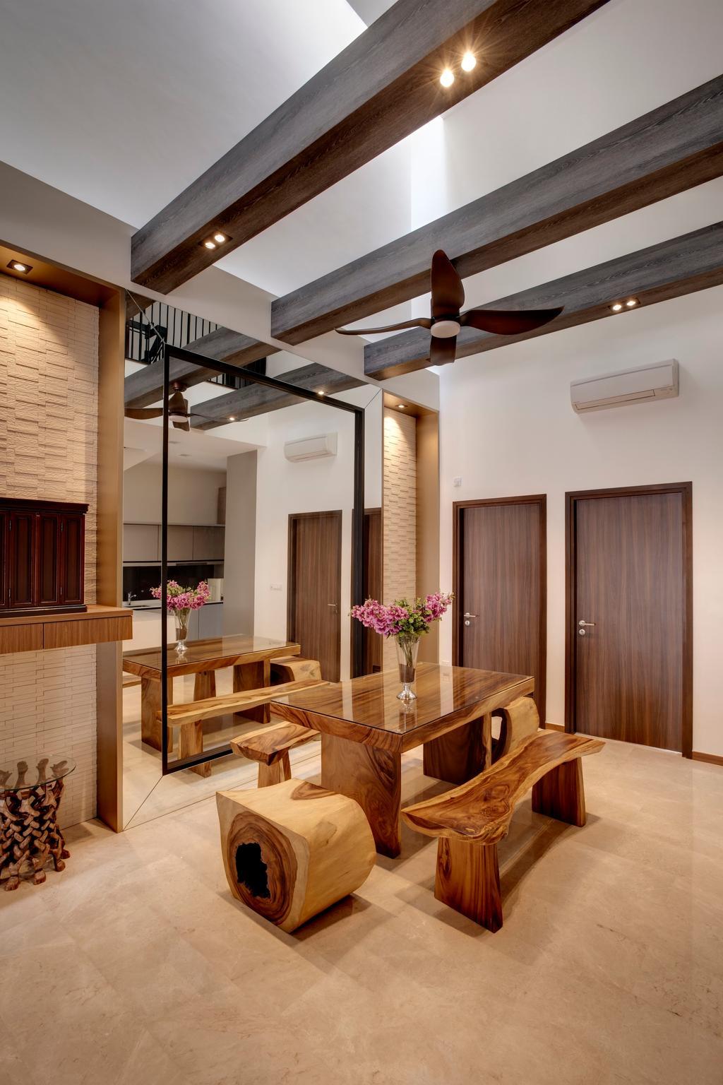 Modern, Condo, Dining Room, The Springside, Interior Designer, The Orange Cube, Indoors, Interior Design, Room, Dining Table, Furniture, Table, Lumber, Wood