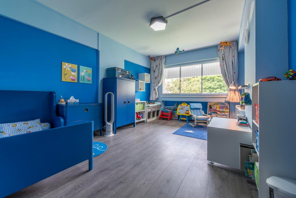 Contemporary, HDB, Bedroom, Jurong West, Interior Designer, Third Avenue Studio, Blue, Boys Room, Blue Walls, Kids Room, Children, Playroom, Play Corner, Kids Bed, Kids Furniture, Kids