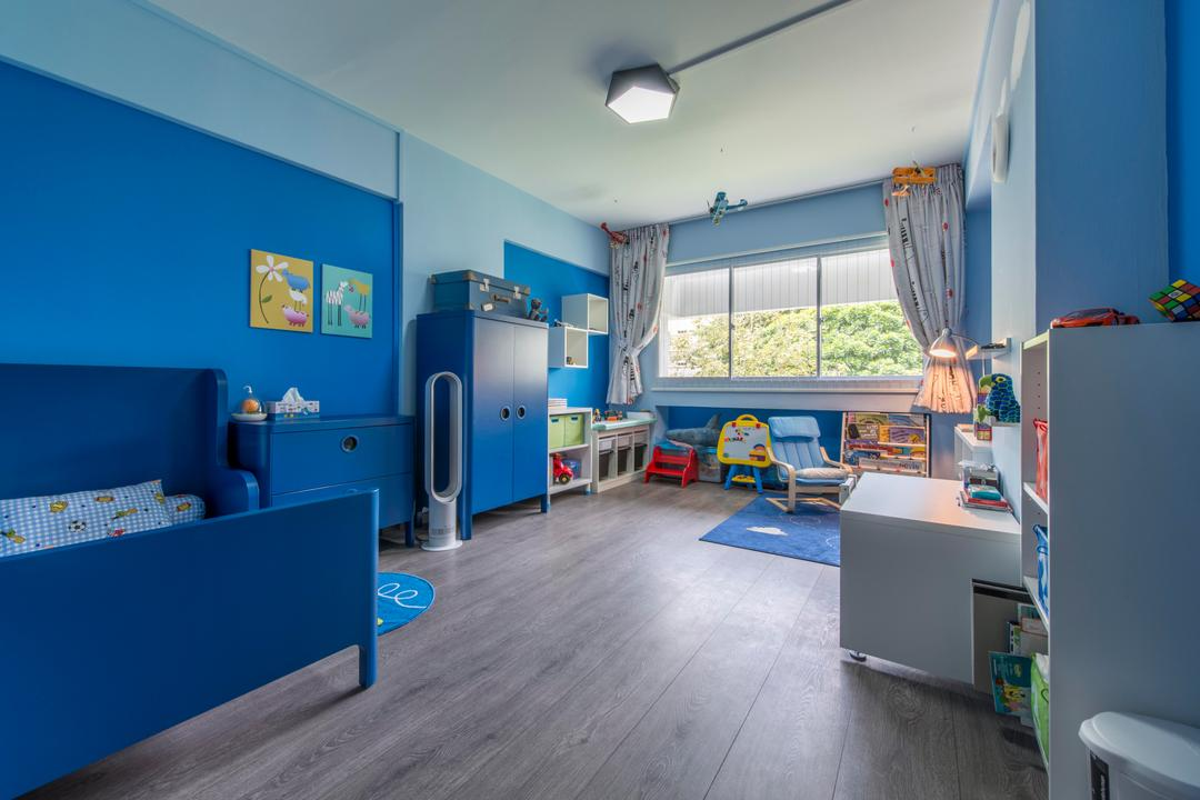 Jurong West, Third Avenue Studio, Contemporary, Bedroom, HDB, Blue, Boys Room, Blue Walls, Kids Room, Kids Room, Children, Playroom, Play Corner, Kids Bed, Kids Furniture, Kids