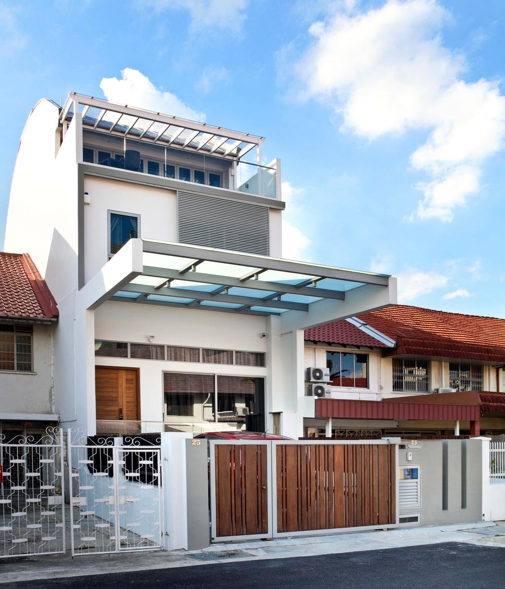 Traditional, Landed, Siang Kuang, Interior Designer, Yonder, House, Terrace, Roof, Tile Roof, Building, Housing