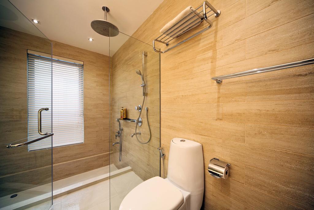 Traditional, Landed, Bathroom, Siang Kuang, Interior Designer, Yonder, Towel Rack, Rack, Toilet Bowl, Shower, Shower Screen, Wall Tiles, Toilet