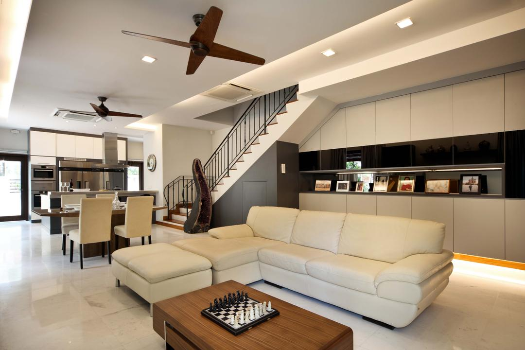Woodgrove View, Yonder, Traditional, Living Room, Landed, Cove Light, Down Light, Ceiling Fan, Sofa, Cofee Tables, Marble Floor, Cabinets, Storage, Dining Table, Dining Chairs, Chess, Game, Couch, Furniture, Indoors, Interior Design, Room