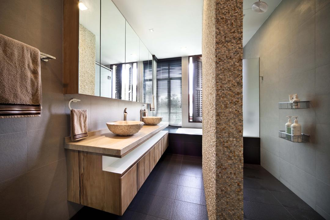 Woodgrove View, Yonder, Traditional, Bathroom, Landed, Pillar, Tiles, Towl Rack, Sink, Cabinets, Mirror, Mirror Cabinet, Towel, Coffee Table, Furniture, Table