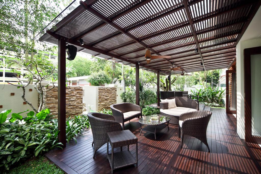 Traditional, Landed, Garden, Woodgrove View, Interior Designer, Yonder, Shelter, Sofa Chairs, Wood Floor, Chair, Furniture, Backyard, Outdoors, Yard