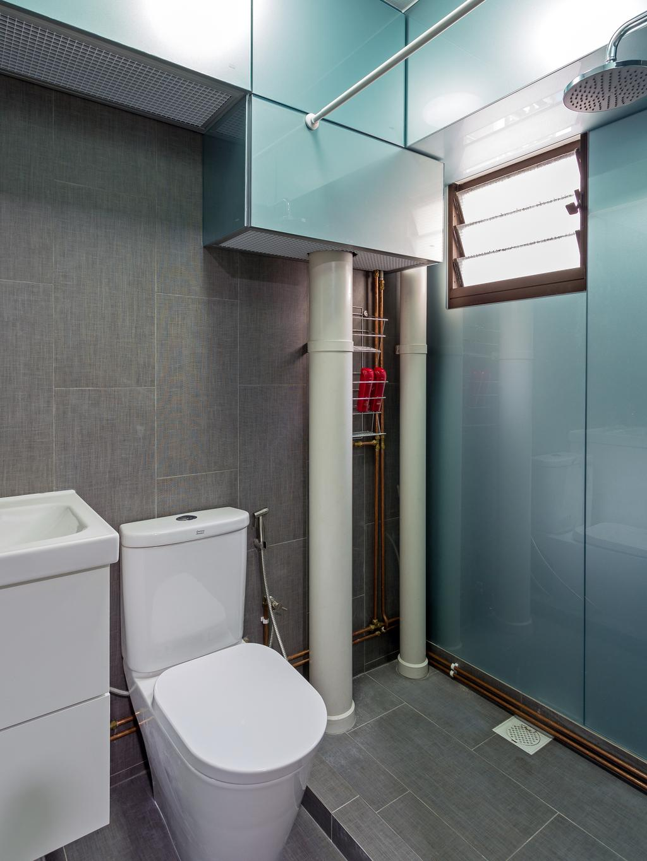 Scandinavian, HDB, Bathroom, Redhill Road, Interior Designer, erstudio, Toilet, Sink