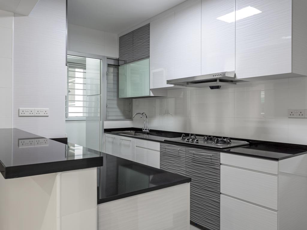 Modern, HDB, Kitchen, Woodlands Rise, Interior Designer, Design Story, Curtain, Home Decor, Window, Window Shade, Indoors, Interior Design, Room