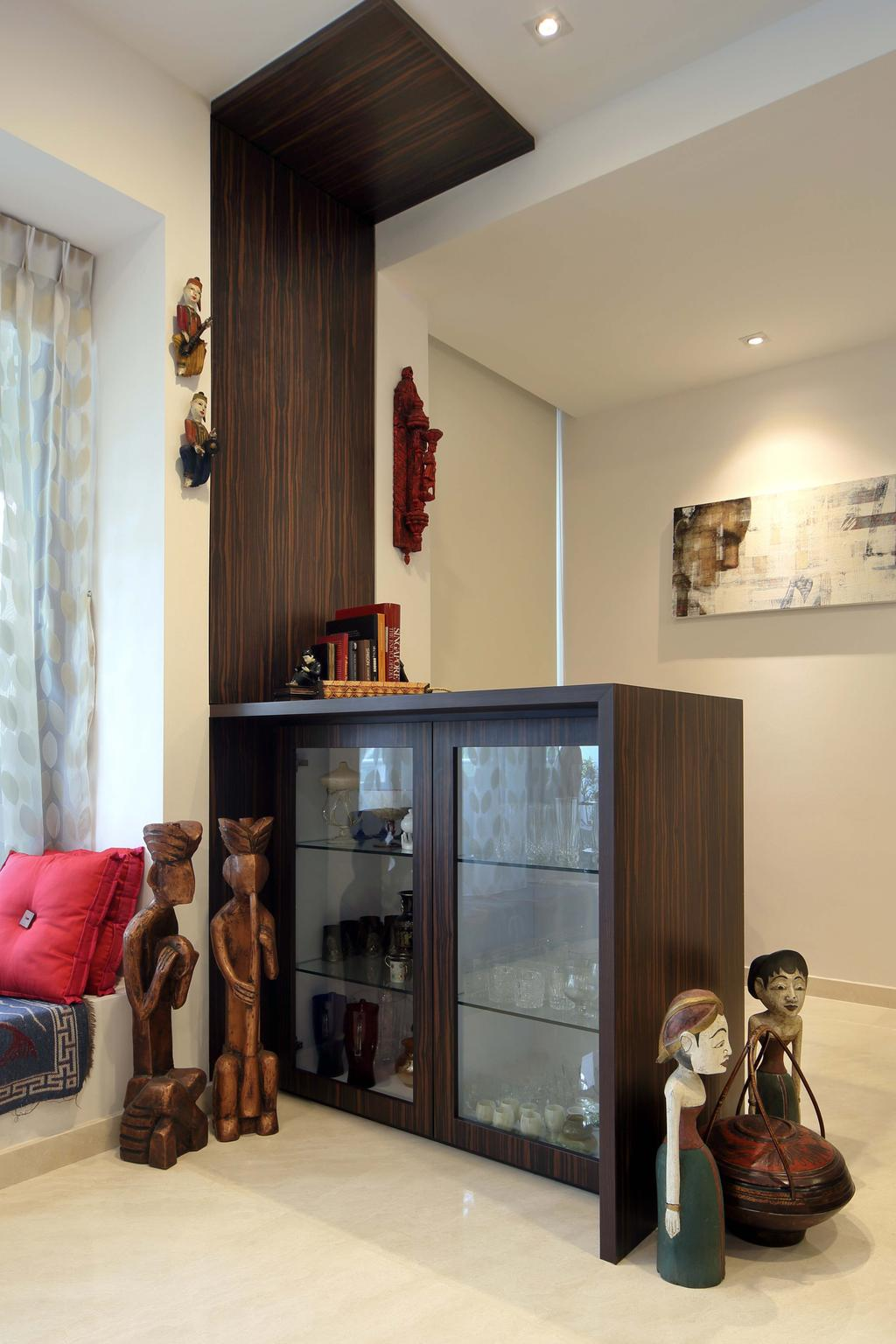 Eclectic, Condo, Living Room, Hillcrest, Interior Designer, Yonder, Marble, Glass Display, Decorative Items, Ancient Egypt