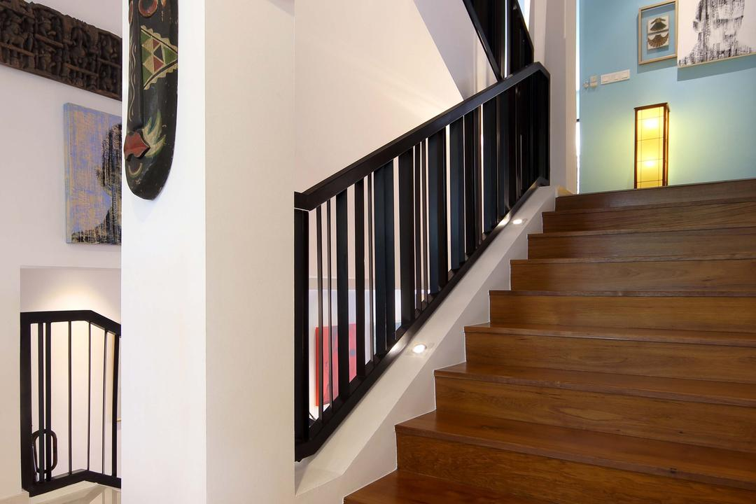 Hillcrest, Yonder, Eclectic, Condo, Staurs, Marble, Arts, Hardwood, Wood, Banister, Handrail