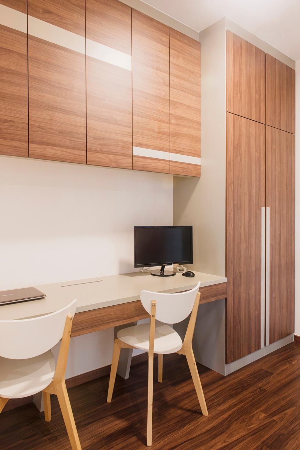 Scandinavian, Condo, Study, Bellewaters, Interior Designer, Cozy Ideas Interior Design, Sink, Desk, Furniture, Table