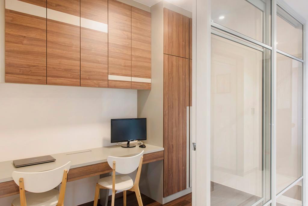 Scandinavian, Condo, Bellewaters, Interior Designer, Cozy Ideas Interior Design, Desk, Furniture, Table