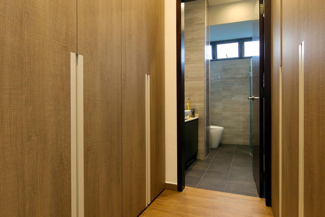 Hillcrest, Yonder, Eclectic, Bedroom, Condo, Wood Floor, Walk In Wardrobe, Toielt, Cupboards, Wardrobe, Wood, Bathroom, Indoors, Interior Design, Room, Floor