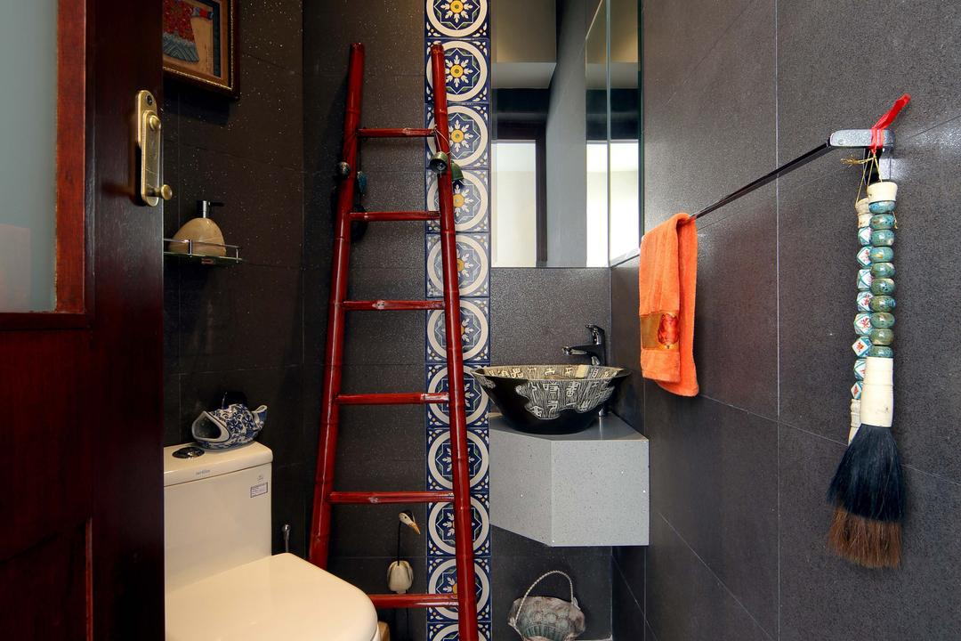 Hillcrest, Yonder, Eclectic, Bathroom, Condo, Toielt Bowl, Tiles, Wall Tiles, Mirror, Sink