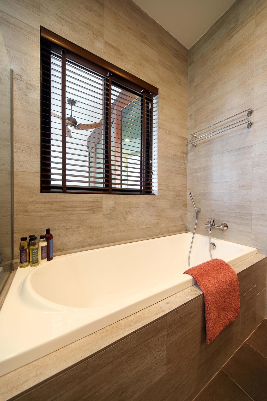 Eclectic, Condo, Bathroom, Hillcrest, Interior Designer, Yonder, Bath Tub, Wall Tiles, Floor Tiles, Blinds, Knitting, Bathtub, Tub, Indoors, Interior Design, Room
